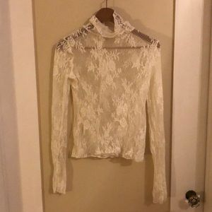 Sexy white Free People long sleeve